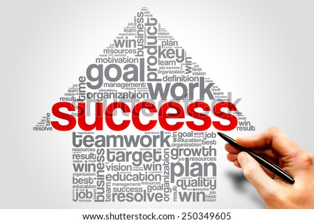 Success Arrow word cloud, business concept - stock photo