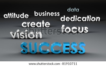 Success at the Forefront in 3d Presentation - stock photo