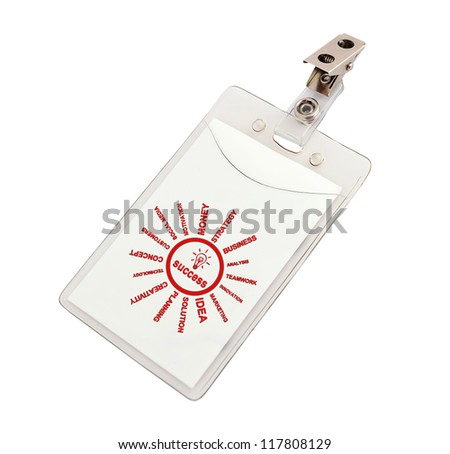success badge on a white background - stock photo