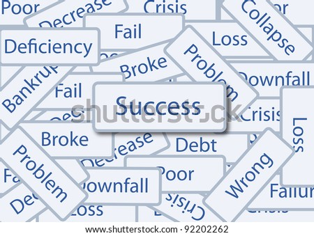 success box amoung failure words
