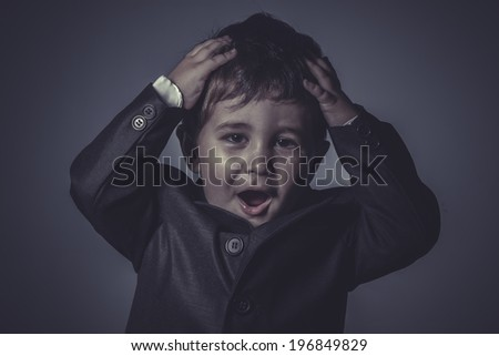 success boy in suit and tie, Business concept - stock photo
