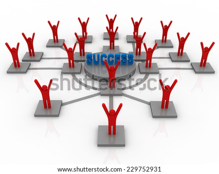 Success business network - stock photo