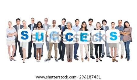Success Business People Team Teamwork Success Strategy Concept - stock photo