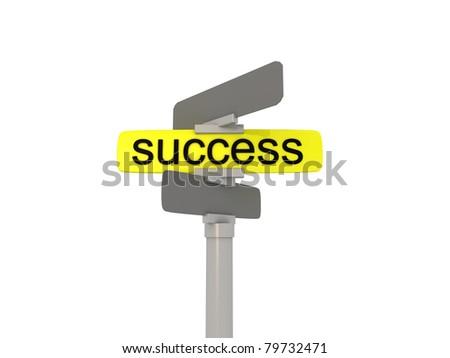 Success business - road arrow - stock photo