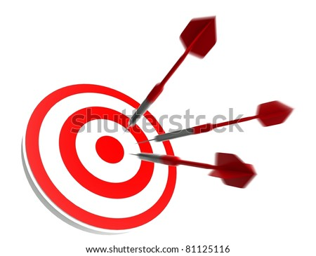 Success business target, Isolated White - stock photo