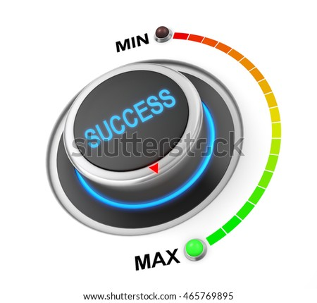 success button position. Concept image for illustration of success in the highest position , 3d rendering