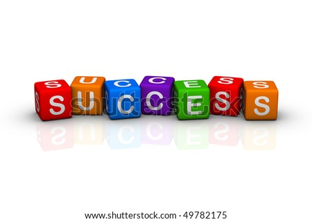 success (buzzword colorful cubes series)