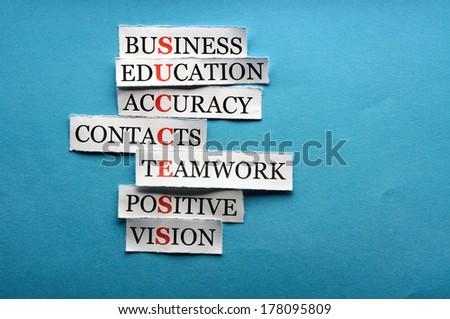 success collage - stock photo