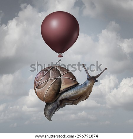 Success Concept And Business Advantage Idea Or Game Changer Symbol As A Balloon Lifting Up