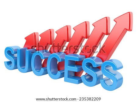 Success concept. 3d image isolated on a white background - stock photo