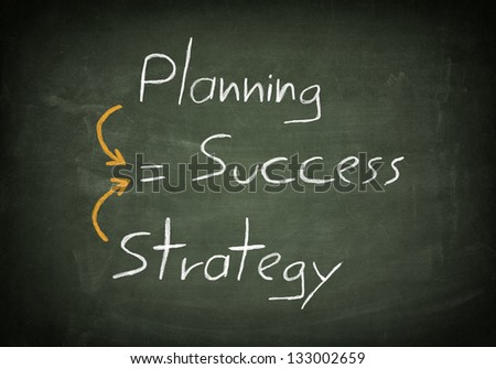 Success concept handwritten with white chalk on a blackboard - stock photo