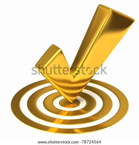 Success concept on white background - stock photo