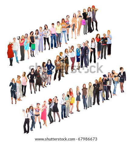 Success Cooperation Standing - stock photo