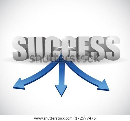 success destinations illustration design over a white background - stock photo