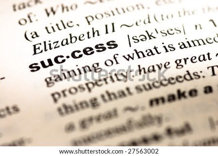 success dictionary definition - stock photo