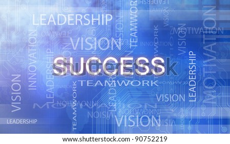 Success flow chart made with - stock photo