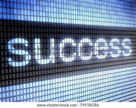 success  Full collection of icons like that is in my portfolio - stock photo