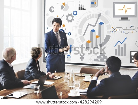 Success Goals Analysis Corporate Business Concept