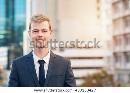 Success has smiled on his business - stock photo