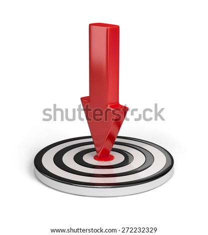 Success in achieving the goals. 3d image. White background. - stock photo