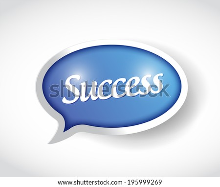 success message bubble illustration design over a white background