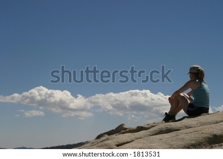 Success Mountain - stock photo