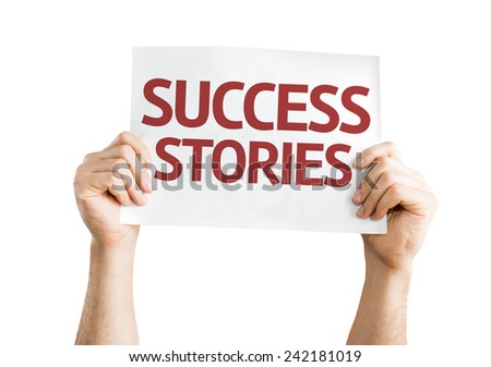 Success Stories card isolated on white background - stock photo