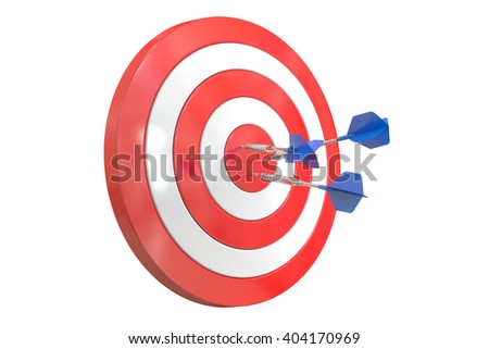 Success Target, 3D rendering - stock photo