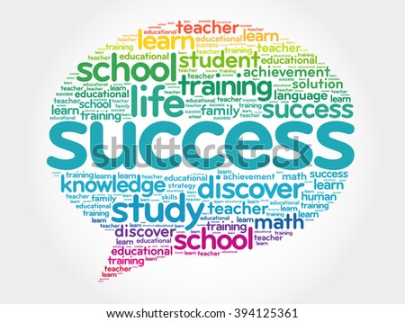 Success Think Bubble word cloud, business concept - stock photo