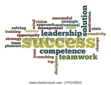 Success word cloud - stock photo