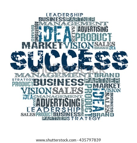 Success Word Cloud Concept - stock photo