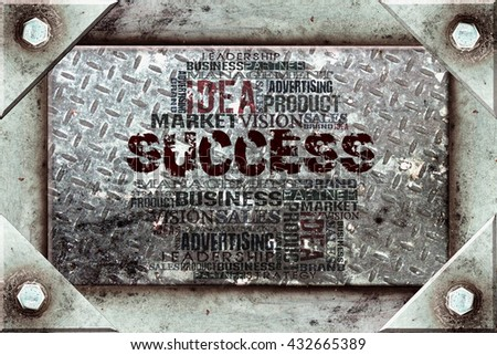 Success Word Cloud Concept Background - stock photo