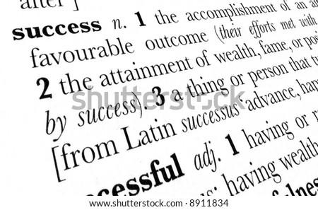 Success word dictionary definition in great perspective - stock photo