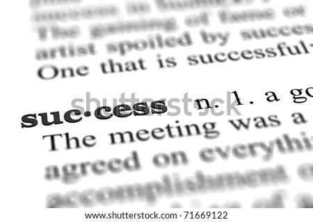 success word from dictionary, close up - stock photo