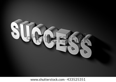 Success Word Illustrating Success Concept in Business in 3D Rendering Text