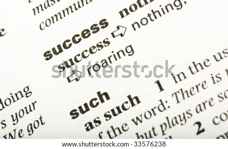 success word text