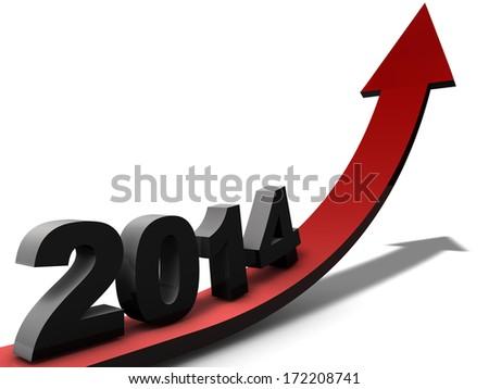 Successful 2014 - stock photo