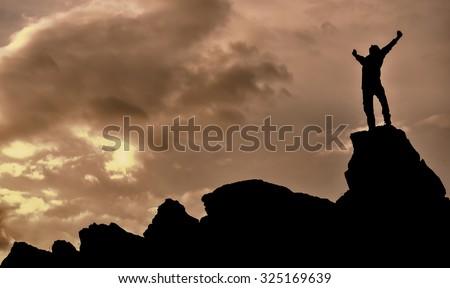 successful & accomplish  - stock photo