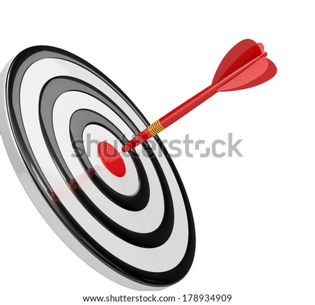 Successful achievement of its goals. 3d image. White background. - stock photo