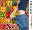 Successful and healthy diet composition - stock photo