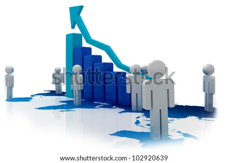 Successful business - stock photo