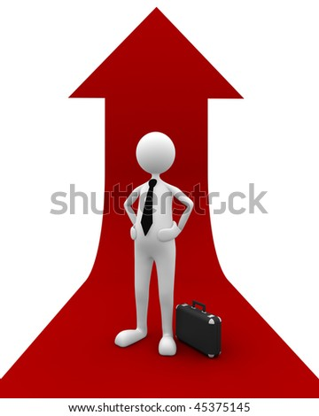 Successful Business. Great concept depicting economy raise, business success, etc. - stock photo