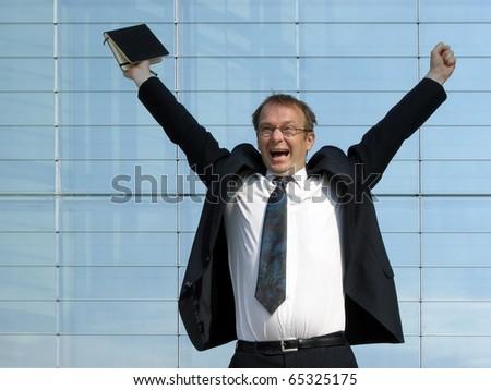 successful business man - stock photo