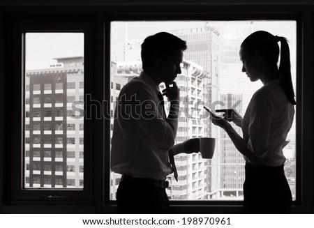 Successful business people. - stock photo