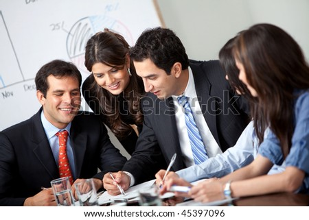 Successful business people at a corporate meeting