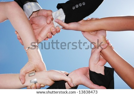Successful business people for teamwork - stock photo