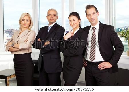 Successful business team - stock photo