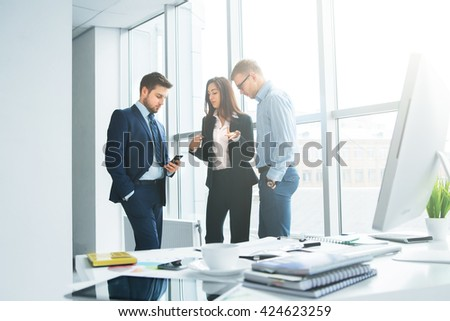 Successful business team at the office - stock photo