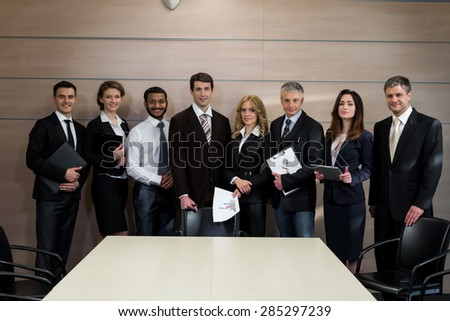 Successful business team. Top managers in the office. - stock photo