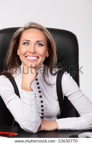 Successful business woman - stock photo